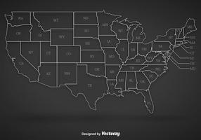 Vector Estados Unidos contornos