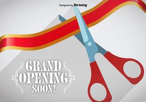 Grand Opening Ribbon Cut Vector