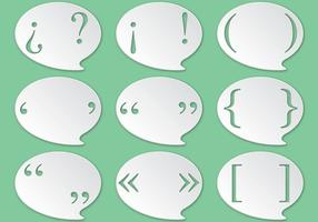 Punctuation Marks Speech Bubble Vectors