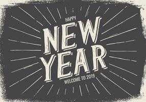 New Year Typographic Illustration