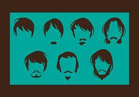 Man Hair Style Vector