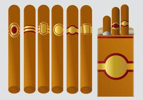 Vectores de la etiqueta del cigarro