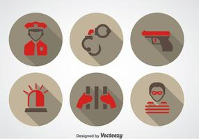 Police And Robber Icons vector