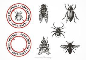 Set vettoriale di controllo dei parassiti