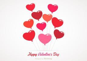 Vetor de balões de coração grátis