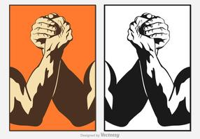 Gratis Arm Wrestling Vector