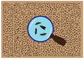 Vettore della lente d'ingrandimento della termite