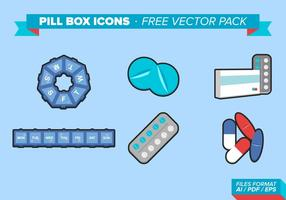 Pill Box Ikoner Gratis Vector Pack