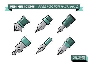 Pen Nib Free Vector Pack Vol. 2