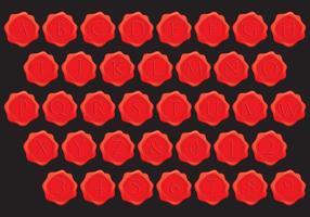 Stempel Wax Alfabet Vectoren