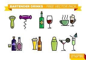 Bartender Drycker Gratis Vector Pack