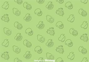 Fruits Green Pattern vector