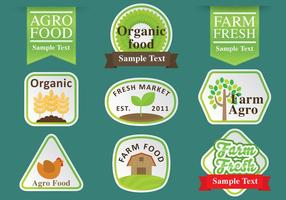 Agro Logos And Ribbons vector