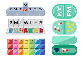 Free Pill Box Vector