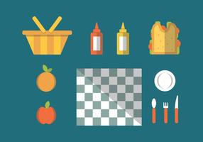 Free Family Picnic Vector Illustrations #1