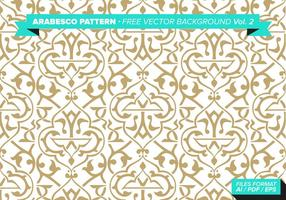 Arabesco Pattern Free Vector Hintergrund Vol. 2