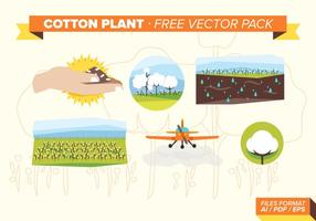 Cotton Plant Free Vector Pack