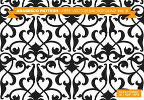 Arabesco Pattern Free Vector Hintergrund Vol. 4