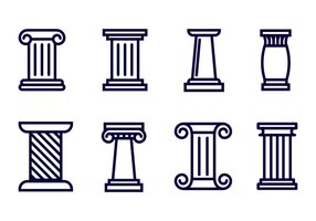 Roman Pillar Icon Vector