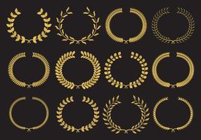 Vetores de coroa de ouro