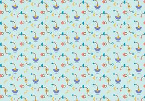 Funky shapes pattern background