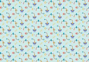 Funky formas patrón de fondo
