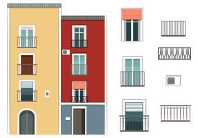 Bunte Gebäudevektoren