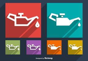 Vecteurs de symboles de changement d'huile