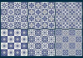 Vetores de padrões de azulejos azuis