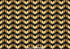 Gold And Black Chevron Pattern vector