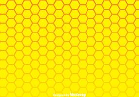 Yellow Honeycomb Background