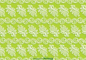 Paisley Green Background vector