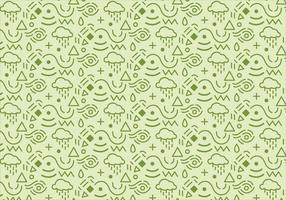 Abstract pattern background with green shapes vector
