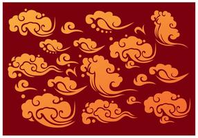 Vetores do Elemento das Nuvens Chinesas
