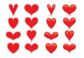 Rote Herzvektoren