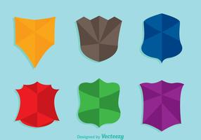 Shield Shape Colors Ikoner