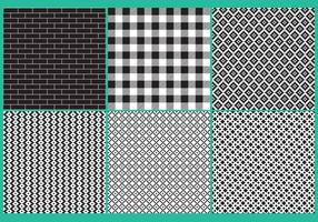 Black And White Block Patterns vector