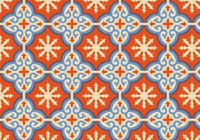 Oranje Marokkaanse Patroon Achtergrond Vector
