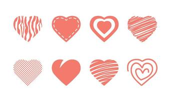 Heart Icon Collection vector