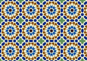 Moody Moroccan Pattern Background Vector