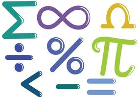 Vecteurs de symboles mathématiques gratuits