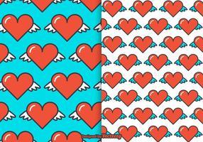 Heart Wings Vector Pattern