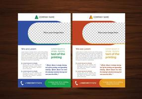 Vector Brochure Flyer ontwerp Lay-out sjabloon in A4 formaat