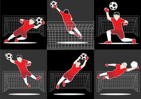 Cool Goal Keeper Vector