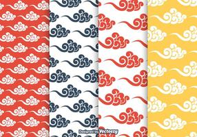 Chinese Clouds Vector Pattern