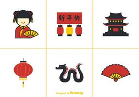 Gratis China Town Vector Elementen