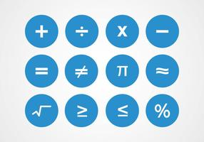 Vectores matemáticos símbolos