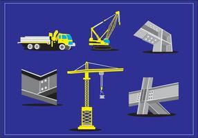 Construcción de viga de acero Vector