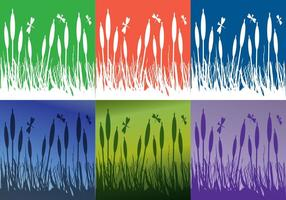 Reeds Background Colors vector