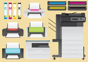 Vector de impressoras a laser e tinta